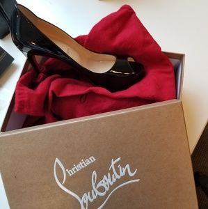 Christian Louboutin Shoes - NEVER WORN - Christian Louboutin Peep toe paten le